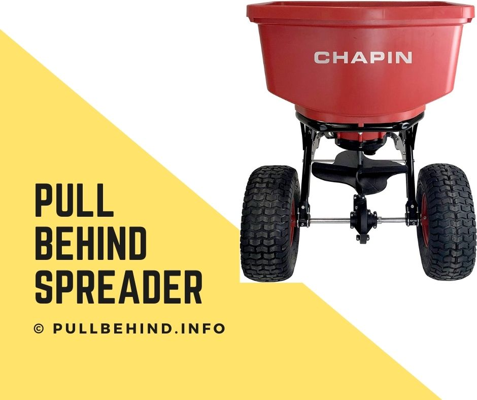 How does a pull behind spreader work